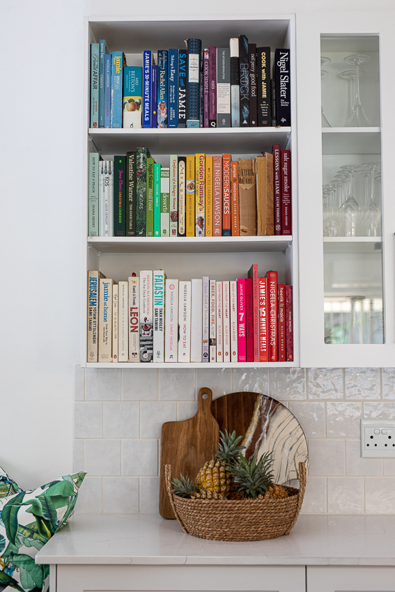 Bookshelf in kitchen