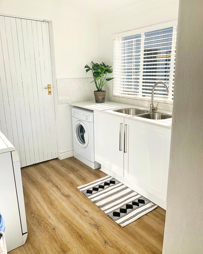 White and bright laundry room
