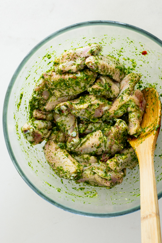 Cilantro Lime Air Fryer Chicken Wings