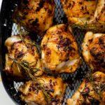 Lemon Rosemary Air fryer chicken thighs