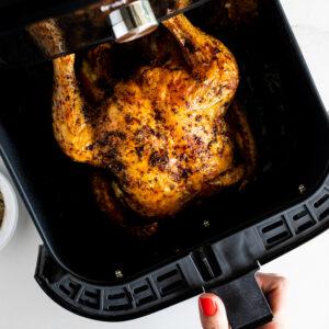 Lemon Za'atar Air Fryer roast Chicken