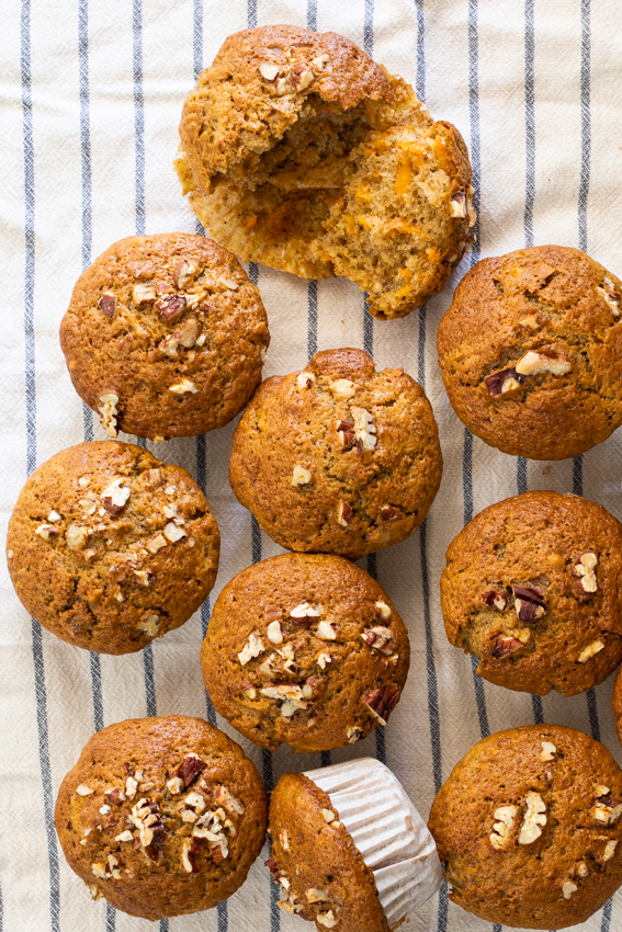 Easy Pecan Carrot Muffins