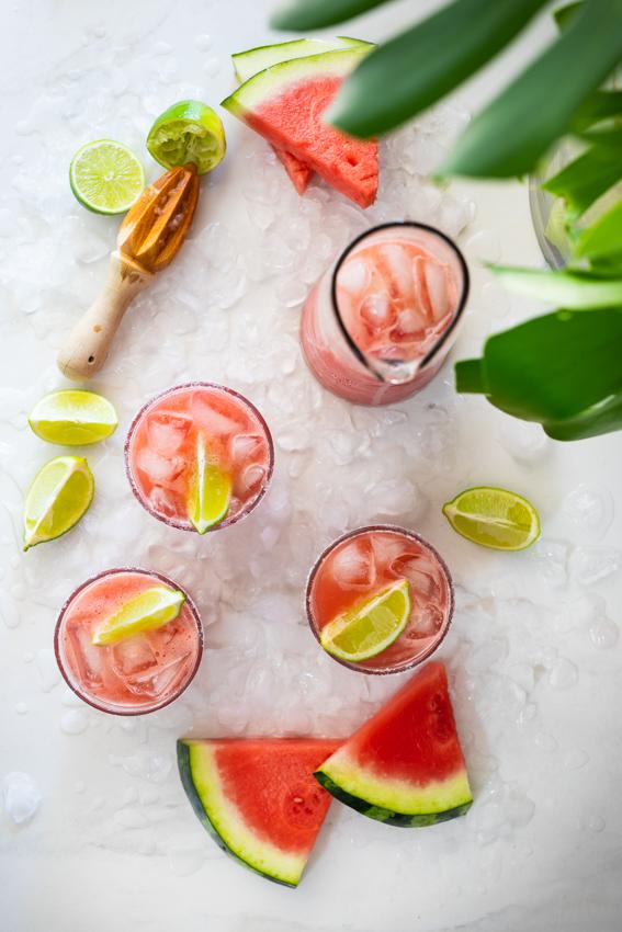 Easy Watermelon Margarita.
