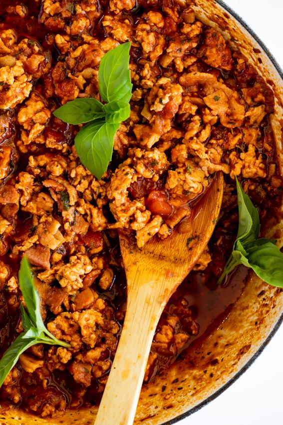 Bacon Chicken Bolognese