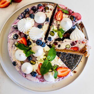 Berry Meringue Ice Cream Pie