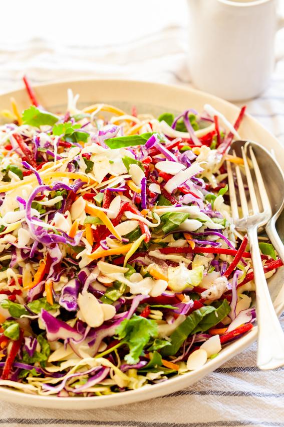 Quick and Easy Lemon Parmesan Cabbage Salad