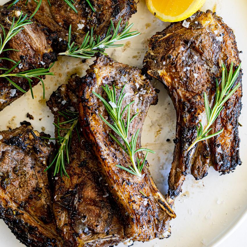 lamb chop recipes garlic rosemary Garlic Rosemary Grilled Lamb Chops