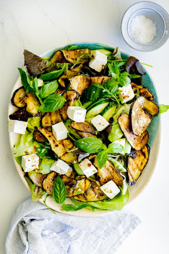 Easy grilled eggplant salad