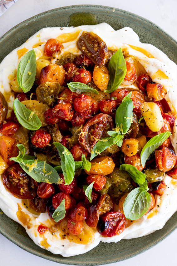 Creamy Labneh with Roasted Tomatoes