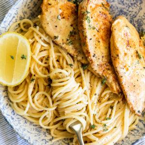 Easy Creamy Lemon Chicken Pasta