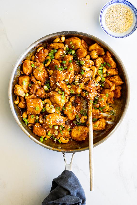 Easy Sticky Cashew Chicken