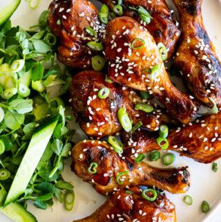 Sticky soy honey baked chicken drumsticks