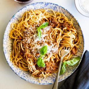 Easy Vegetarian Bolognese Sauce