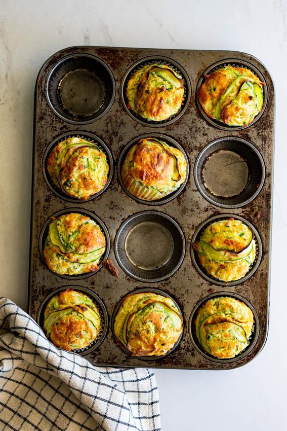 Cheesy zucchini muffins
