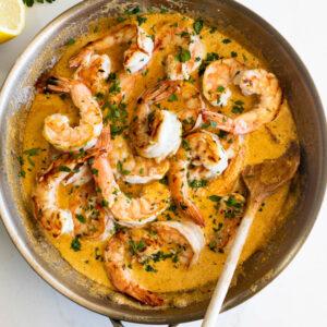 Easy creamy garlic shrimp
