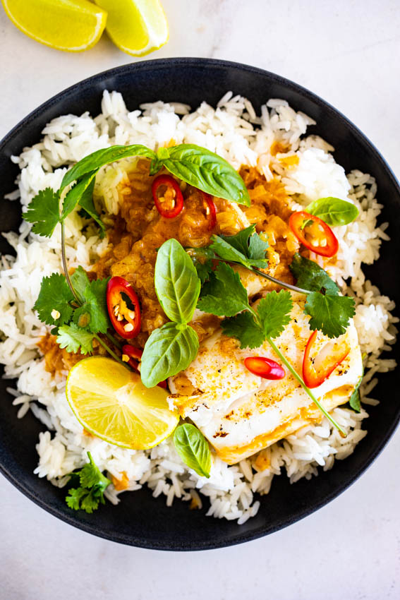 Thai Red Coconut Fish Curry