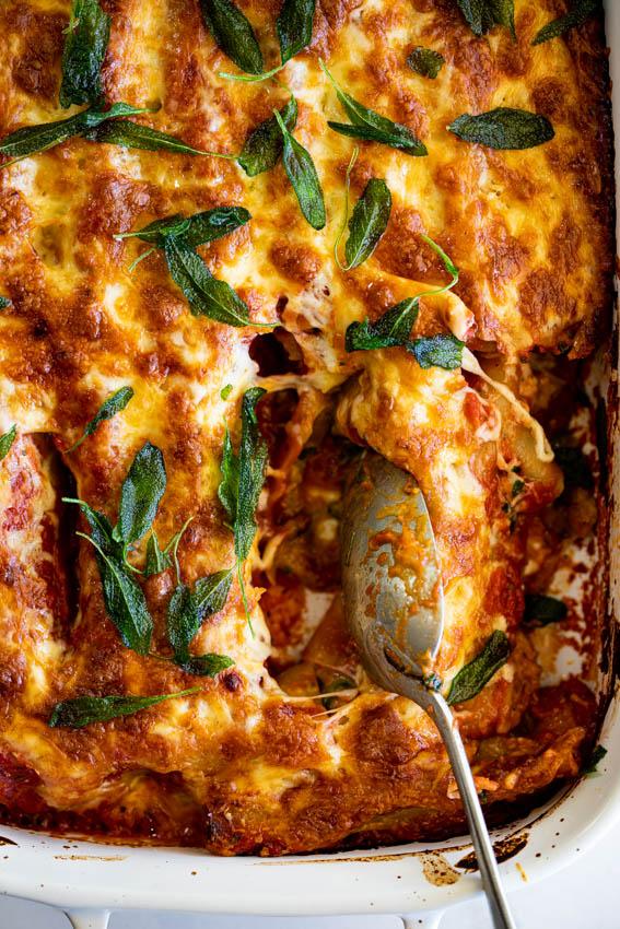 Butternut Squash Spinach Cannelloni