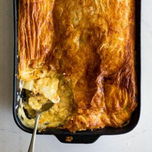 Cauliflower cheese pot pie
