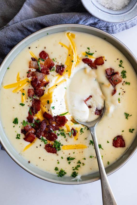 Loaded Instant Pot Potato Soup