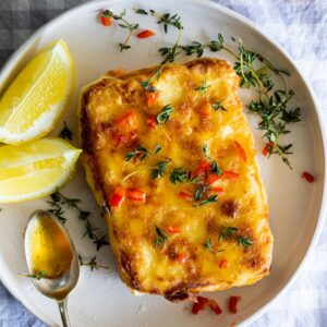 Easy Saganaki with Chilli Honey