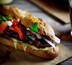 Caramelised Pork Banh Mi sandwiches