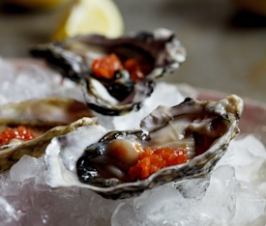 Oysters with Tabasco Granita