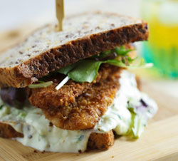 Special K crusted chicken sandwich