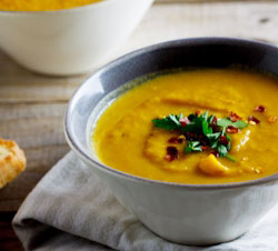 Roasted Butternut soup with Pears